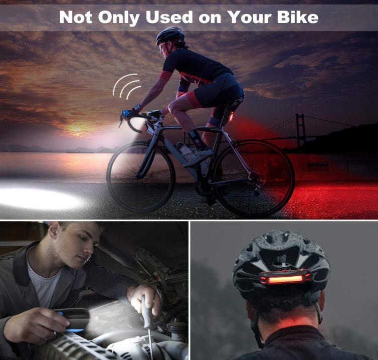 6db3db4b4c364 Las luces frontales y traseras OMERIL están diseñadas especialmente para  las buenas noches de trabajo y para una conducción segura. Incluye una luz  ...