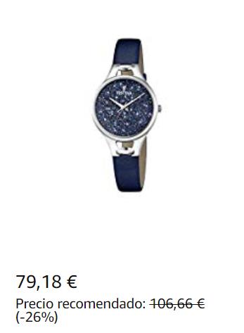 reloj festina esfera azul