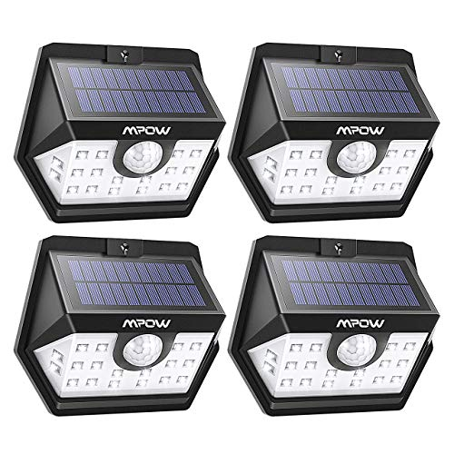 Luz exterior led solar sensor movimiento