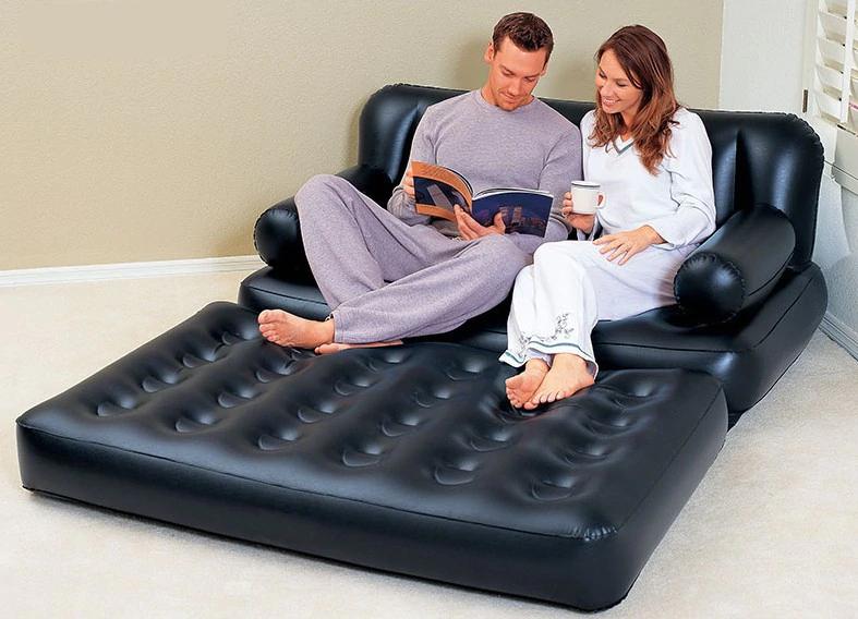 Gran Sofá cama inflable plegable doble - El Consumidor.Org
